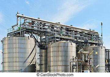 raffinerie, huile, détails