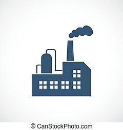 raffinerie, huile, usine, vecteur, icône