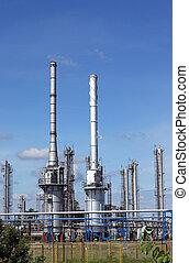 raffinerie, industrie, huile, zone