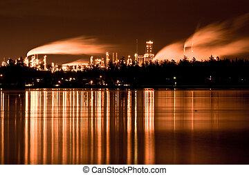 raffinerie, industriel