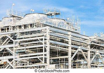 raffinerie, liquéfié, essence, naturel, usine