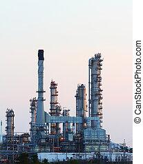 raffinerie, pétrochimique, huile