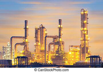 raffinerie pétrole, plante