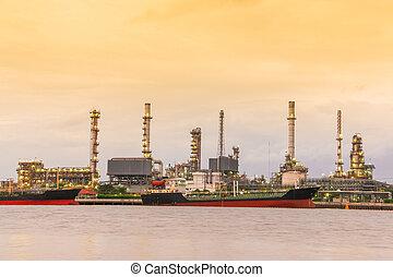 raffinerie pétrole, usine