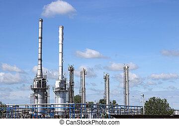 raffinerie, plante, industrie pétrochimique, zone