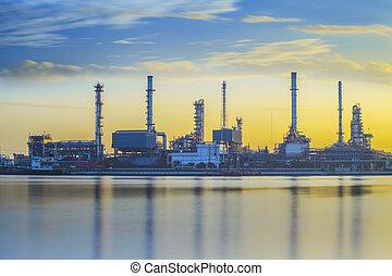 raffinerie, plante, industriel