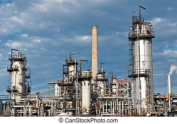 raffinerie, plante, pétrochimique