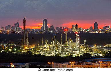 raffinerie, plante, puissance