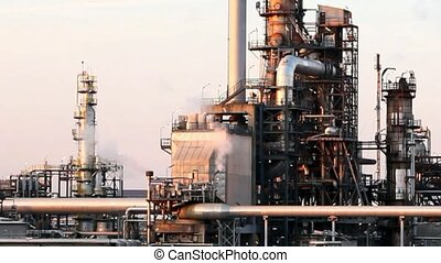 raffinerie, plante, -, usine