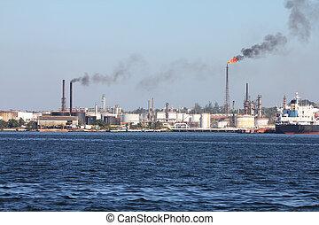 raffinerie, pollution