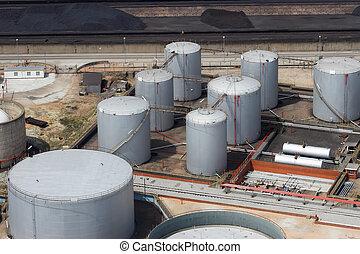 raffinerie, stockage