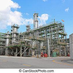 raffinerie, tour, usine industrielle