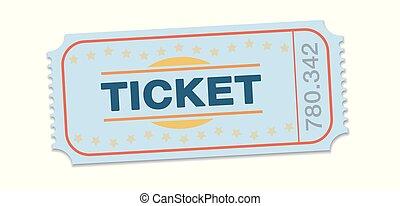 Raffle Ticket Single Strip Ticket - Raffle ticket. Single...