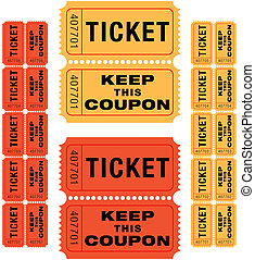 raffle tickets - group of sequentially numbered raffle...