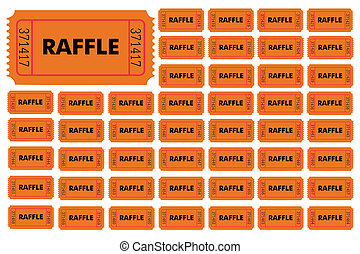 illustration of different numbered raffle tickets vector clipart