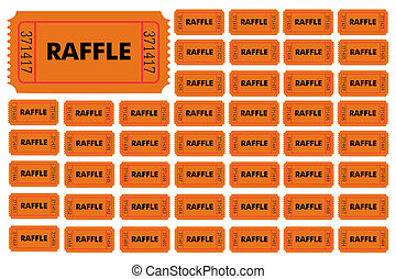 Raffle Tickets - Illustration of different numbered raffle...