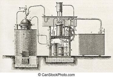 raffreddamento, industriale, apparato