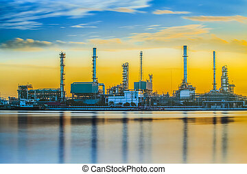 rafinerie, průmyslový nechat na holičkách