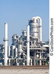 Rafinery - metal pipelines petrochemical industry