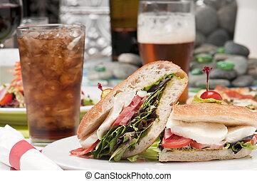 rafraîchissements, sandwich