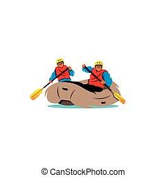 rafting., μικροβιοφορέας , illustration.