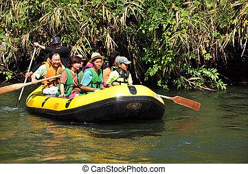 rafting boat at kanchanaburi thailand 17 March 2008
