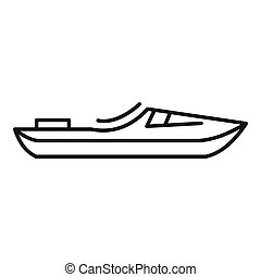 Rafting boat icon, outline style