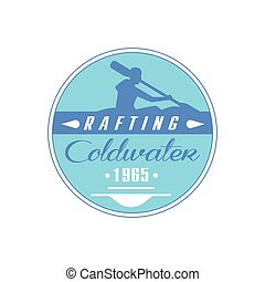 Rafting Coldwater Blue Emblem Design - Rafting Coldwater...