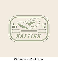 Rafting Emblem Design - Rafting Emblem Classic Style Vector...