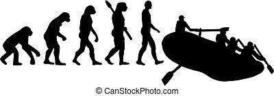 Rafting evolution