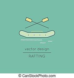 Rafting line icon