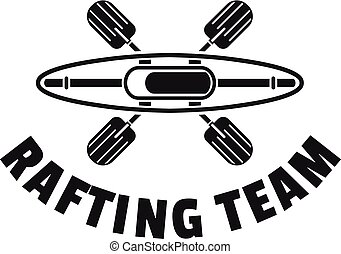 Rafting team logo, simple style