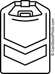 Rafting tool box icon, outline style