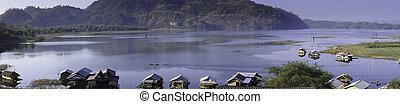 Rafts on Countryside Lake