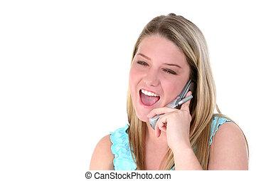 ragazza adolescente, cellphone
