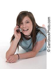 ragazza adolescente, parlare
