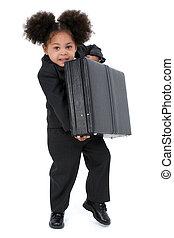 ragazza, affari, bambino