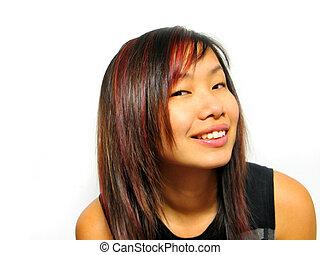 ragazza, asiatico