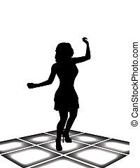 ragazza, balli
