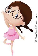 ragazza, ballo, balletto, equipaggiamento