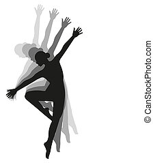 ragazza, ballo