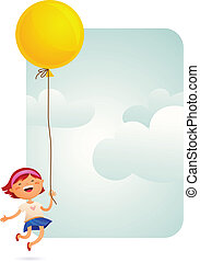 ragazza, balloon