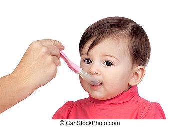 ragazza bambino, mangiare