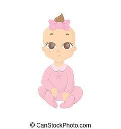 ragazza bambino, pink.