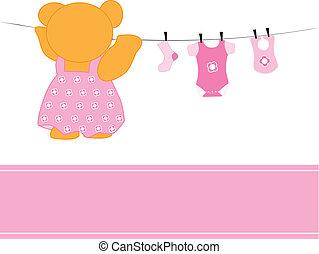 ragazza bambino, vestiti