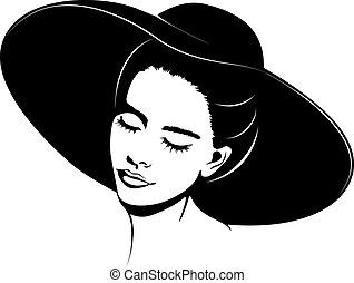 ragazza, cappello
