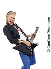 ragazza, chitarra