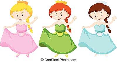 ragazza, costume, principessa