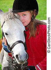 ragazza, e, pony