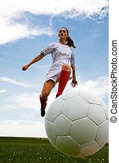ragazza, football